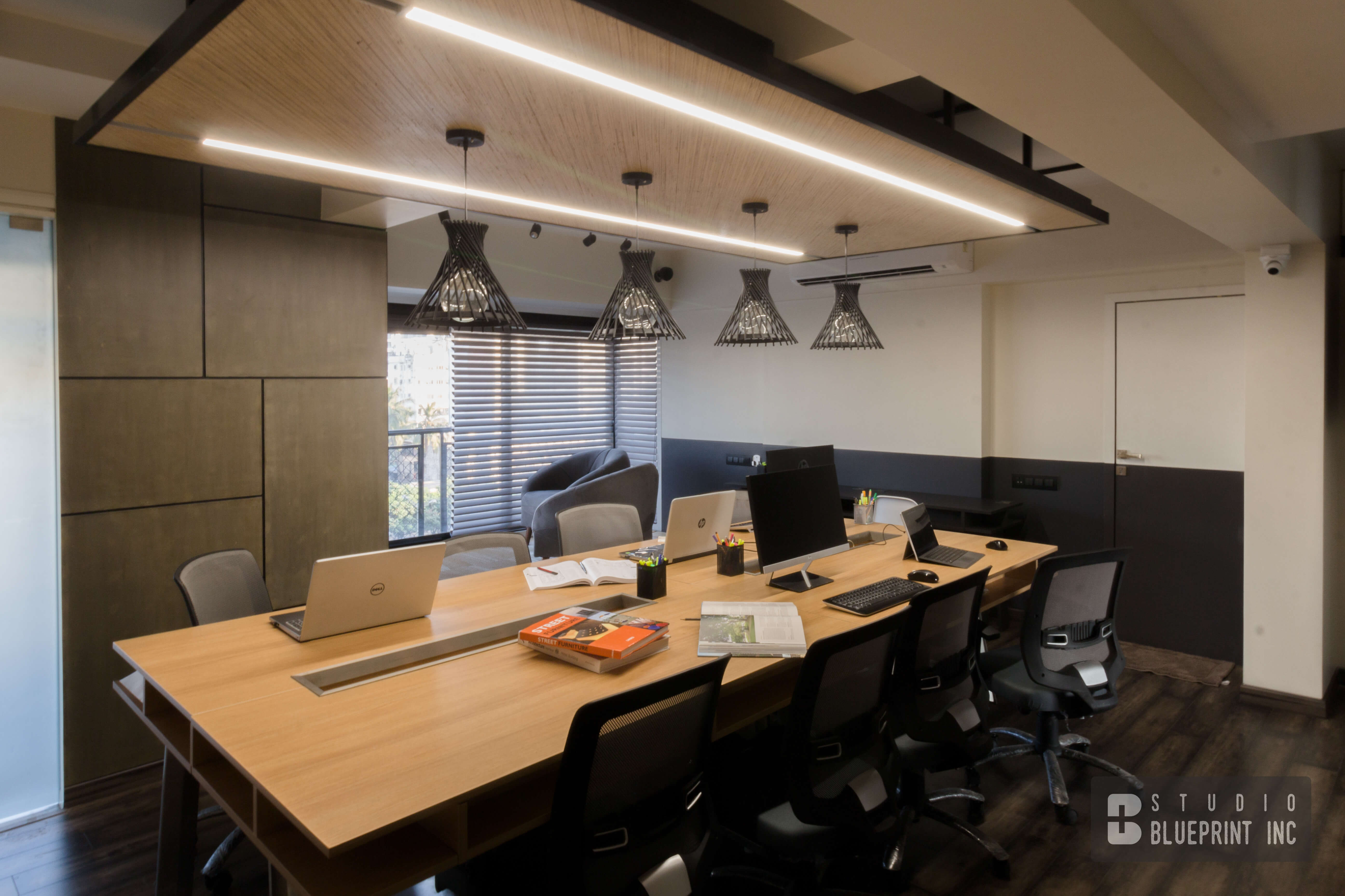 Ujjwal Bhole Architects workstation area.